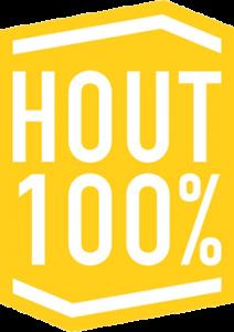 logo hout100pct